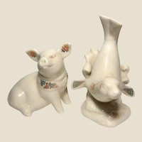 LENOX - China Jewels Collection - Two Adorable Pieces - A Seal and A Pig -