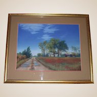 "Original Pastel - William Nelson ""Country Road"""