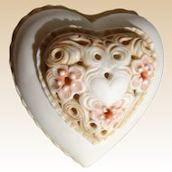 "Cybis Porcelain ""Thinking of You"" Signed Heart Box"