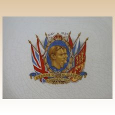 Original  1937 Commemorative Plate Celebrating the Coronation of George VI