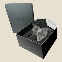 "LALIQUE  (France) - Exquisite Crystal ""Tambwee"" Lion Cubs With Original Box and Lalique Cards"