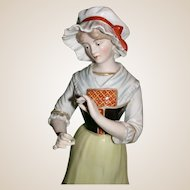 "Lovely Large R. Bloch Porcelain of Paris, ""Lorraine"" c 1939"
