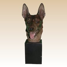 EXTREMELY RARE Vintage Signed Rosenthal German Shepherd Sculpture, Selb, Germany