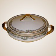Antique Theodore Haviland Limoges Covered Vegetable Dish, France, c 1900