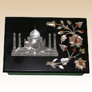 PIETRA DURA  Box - The Taj Mahal, Greatest Monument to Love Of All Time