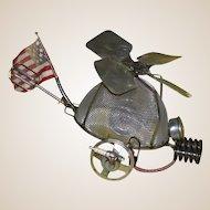 "Fabulous SONNY DALTON (American, 1933 - 2011)  Original Metal Sculpture ""Whirleybird Hat"""