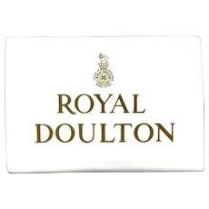 Royal Doulton Vintage Porcelain Dealer/Shop/Display Sign