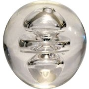 """Large Crystal """"Whirlpool"""" Paperweight, Lovely to Look At; Lovely to Hold."""