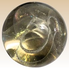 Exquisite Iridescent Signed/Dated Art Glass Paperweight, By R. W. Stephan, 1982