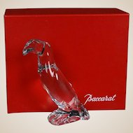 "BACCARAT Signed Crystal Art Glass Sculpture ""Toucan"" - From France - With Original Box"