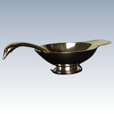 ART DECO CHRISTOFLE (France) Gallia Cygne Swan Gravy Boat and Ladle