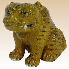 18/19th Century Chinese Porcelain Foo Lion Figure.
