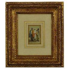 RICHARD PARKES BONINGTON (British 1801 - 1828) Antique Signed Watercolor On Paper