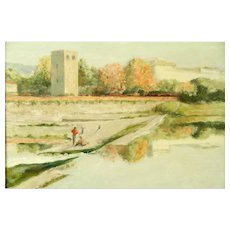 """KEVIN SHEA (American 20th Century) - """"Florence, Italy"""" Signed Original Oil On Canvas"""