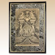 17th Century Venetian Engraving By Mosese With Mirrored Mat