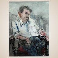 "RICHARD JERZY (American 1943 - 2001) - Original Signed Watercolor ""Reverie"""