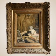 "CHARLES VAN DEN EYCKEN II (Belgian, 1895 - 1923), ""Les Artistes dans les Coulisses,"" Original Oil On Canvas, Signed/Dated 1916."