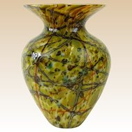 STEVEN LUNDBERG (American 1953 - 2008)  Outstanding Abstract Glass Art Vase