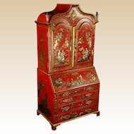 19th Century Miniature Chinoiserie Secretary, From The Estate of Baroness Mary McFall de Gunzburg