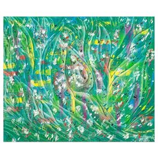 "FUAT YANIK  (Turkish, 20th Century) - ""Rebirth"" Original Signed Oil On Canvas"