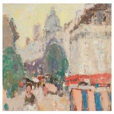"MARKO STUPAR (Yugoslavian b. 1936) ""European Street Scene""  - Original Signed Mixed Media Painting"