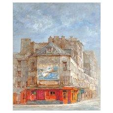 "JEAN KEIME (French, b. 1932) - ""Rue de Vanguard"" Original Signed Oil On Canvas"
