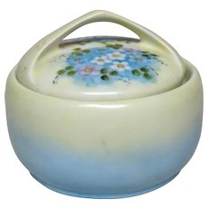 Rosenthal - Artist E. B. Taylor Signed/Dated 1928 - Donatello, Selb, Bavaria - Lidded Round Dresser Box With Handle