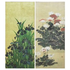PAIR of Large Asian Floral Prints