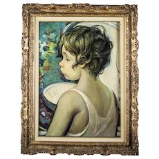 "FRANCISCO J.J.C. MASSERIA (Argentinian 1926 - 2002) -  Original Signed/Dated Oil on canvas - ""Bambino"""