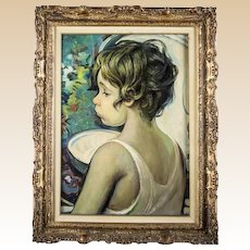 """FRANCISCO J.J.C. MASSERIA (Argentinian 1926 - 2002) -  Original Signed/Dated Oil on canvas - """"Bambino"""""""