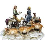 BORSATO (Italian, 1911 - 1982)  Large Multi Figural Porcelain Sculpture -