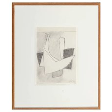 HANS RICHTER (German 1888/1976) - Original Signed/Dated Modernist Pencil On Paper