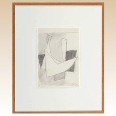 HANS RICHTER (German 1888/1976) - Original Signed/Dated Modernist Pencil On Paper