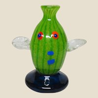 Art Glass Fish Paperweight or Vase - Colorful and Eye-Catching!