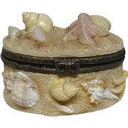 """Sea Shells and Sand"" Trinket Box or Dresser Box"
