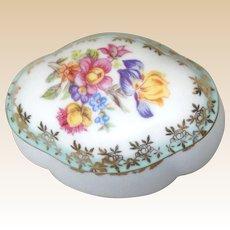 From Germany -Lovely Porcelain Lidded Trinket Box or Dresser Box