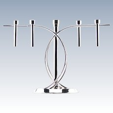 """FINK """"Aura"""" Silver-Plated Candelabra """"Five Flames"""" Simply Stunning!  From England."""