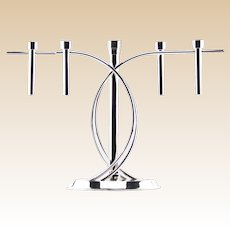 "FINK ""Aura"" Silver-Plated Candelabra ""Five Flames"" Simply Stunning!  From England."
