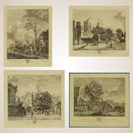 "18th Century - Set of Four 18th Century French Engravings ""Du Cabinet de Mr. le Duc de Choiseul"""