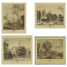 """18th Century - Set of Four 18th Century French Engravings """"Du Cabinet de Mr. le Duc de Choiseul"""""""