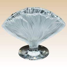 LALIQUE, FRANCE - Rare and Beautiful ICHOR Vase, Clear and Frosted, In Original Lalique Box