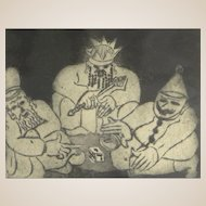 BEN ZION (American/ Ukrainian/ Russian Federation. 1897 - 1987) Signed/Numbered Limited Edition Etching 11/50