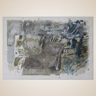 ISRAELI SCHOOL - Abstract  Mid-20th Century Color Lithograph, Signed, Artists Proof