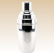 STERLING SILVER Art Deco Cocktail Shaker, Brazilian, 925 Silver