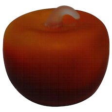 Apple Paperweight With Textured Finish