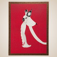 "ERTE (Romain de Tirtoff ) (Russian/French 1892- 1990) Closed Limited Edition, Signed and Numbered, ""TANAGRA (Red)"", 1989,"