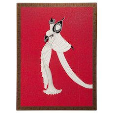 """ERTE (Romain de Tirtoff ) (Russian/French 1892- 1990) Closed Limited Edition, Signed and Numbered, """"TANAGRA (Red)"""", 1989,"""