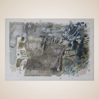 ISRAELI SCHOOL Abstract Color Lithograph, Signed/Numbered, Circa Mid 20th Century.