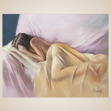 "DOMINGO ALVAREZ GOMEZ (Spanish, b. 1942) Original Signed Pastel on Paper ""Shine in the Dream"""