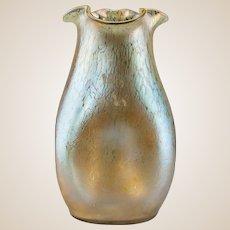 LOETZ Rare and Exquisite Iridescent and Mottled Vase, circa 1900